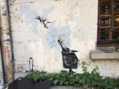 Banksy  La Marais Rat v2 in Paris