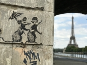 Banksy Tourist Rats in Paris