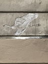 Banksy Montmartre Champagne Rat  v1 in Paris