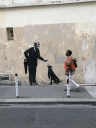 Banksy  Master and his Dog  in Paris